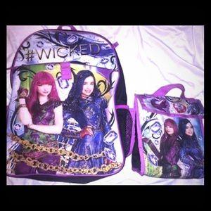 Descendants 2 backpack & Lunch bag
